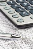 Kalkulatorzy i statistk obrazy stock
