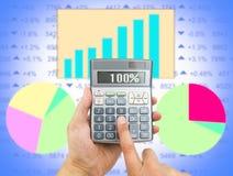 Kalkulować mój przychody obraz stock