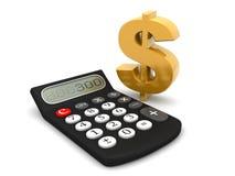 Kalkuluje dolary Zdjęcie Stock