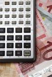 kalkuluje hrabiowskiego pieniądze Obrazy Royalty Free