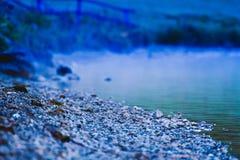 Kall alaskabo strand royaltyfri bild