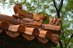 Kall arkitektur i Peking, Kina Royaltyfri Fotografi