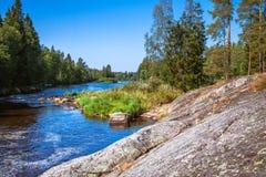 Kall bergflod Royaltyfria Foton