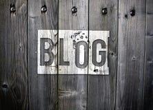 Kall blogg Arkivbilder