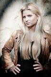kall blondin royaltyfri bild