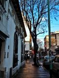 Kall dag i Argentina royaltyfria bilder
