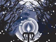 kall dark för jul Arkivbild