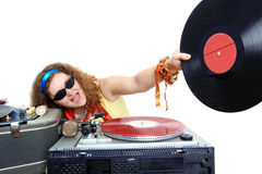 Kall DJ Arkivbild