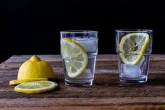kall drinkcitron Arkivfoto