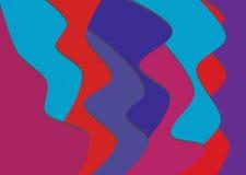 kall färgwave för bakgrund Royaltyfri Bild