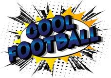 Kall fotboll - humorbokstilord royaltyfri illustrationer