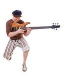 kall gitarrist Arkivbild