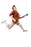 kall gitarristwhite arkivfoto