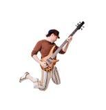 kall gitarristwhite arkivbild