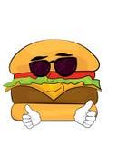 Kall hamburgaretecknad film Arkivfoton