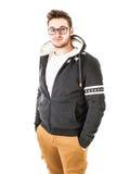 Kall hoodie royaltyfria bilder