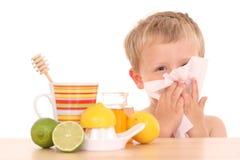 kall influensa Arkivfoto