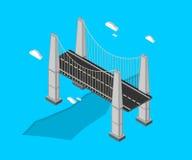 Kall isometrisk bro Arkivfoto