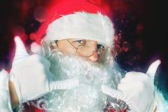 Kall jultomten för abstrakt begrepp som firar Cristmas på nordpolen Royaltyfria Bilder