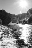 Kall kanjon B/W Royaltyfri Foto