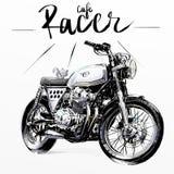 Kall klassisk motorcykel Royaltyfria Bilder