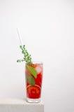 Kall lemonad för frukt på en stentabell Arkivfoto