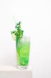 Kall lemonad för frukt på en stentabell Royaltyfri Fotografi