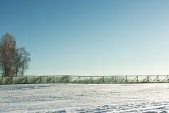 kall liggandevinter Arkivfoto
