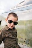 Kall liten pilot Arkivbild
