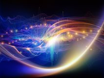 Kall ljus v?g vektor illustrationer