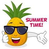 Kall & lycklig sommartidananas Arkivbild