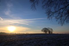 Kall morgon i Februari Royaltyfria Bilder