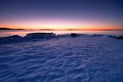 kall morgonsoluppgång Arkivfoto