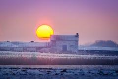 kall morgonvinter Arkivfoto
