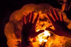 Kall natt av en hemlös Fotografering för Bildbyråer