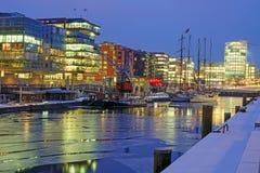 Kall natt i Hamburg Arkivfoto