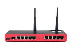 Kall röd Router Arkivbild