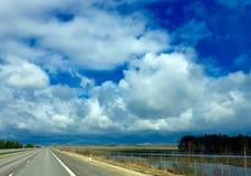 kall sky Arkivbild