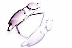 kall solglasögon arkivfoto