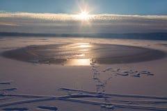Kall solig morgon Arkivfoto