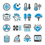 Kall symbolsuppsättning royaltyfri illustrationer