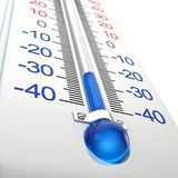 Kall termometer Arkivbild