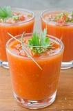 Kall tomatsoup royaltyfri fotografi