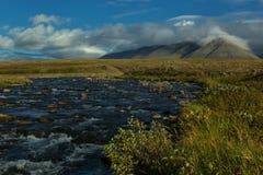Kall tundra i de polara bergen Royaltyfri Fotografi