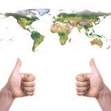 kall värld Arkivbilder