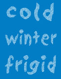 kall vinter för bakgrund vektor illustrationer