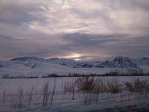 Kalla berg Arkivfoto