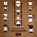 Kalla brygdkaffebryggare royaltyfri illustrationer