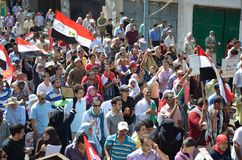 kalla demonstranter egyptierreform Royaltyfria Bilder