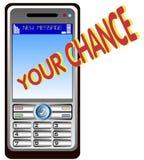 kalla den mobil telefonen Arkivfoton